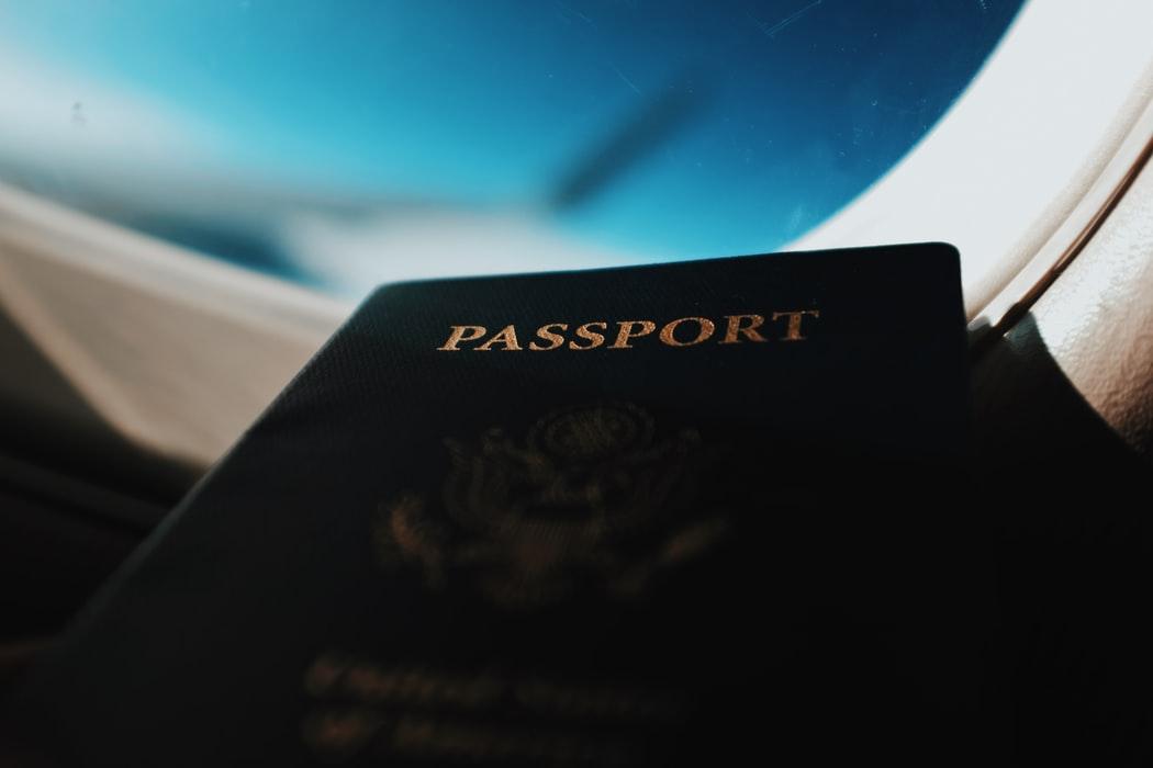 blue passport cover
