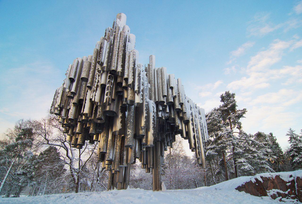 Sibelius Monument ín Helsinki
