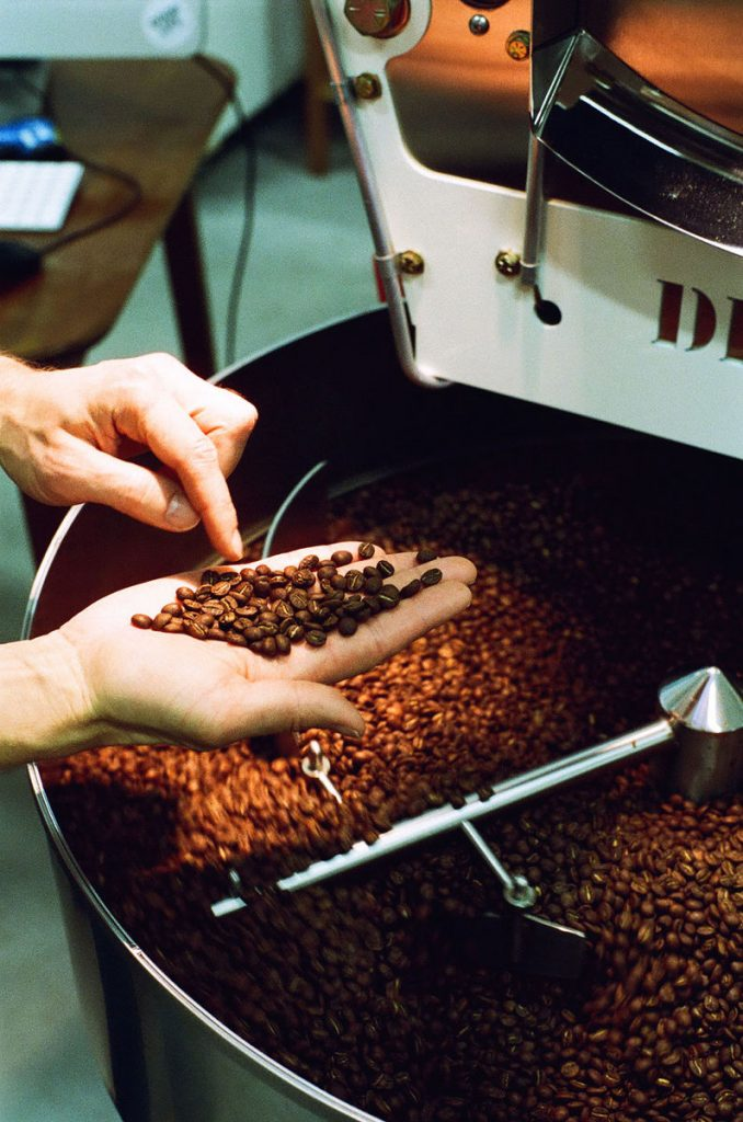 ground coffee beans on hand