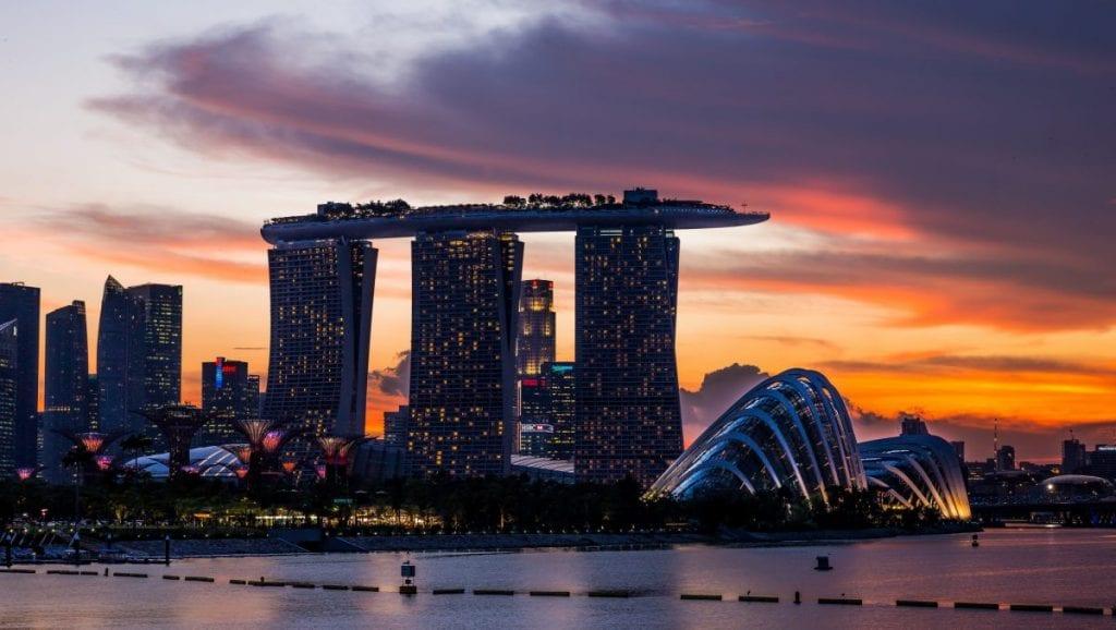 Marina bay sands hotel, Singapore view