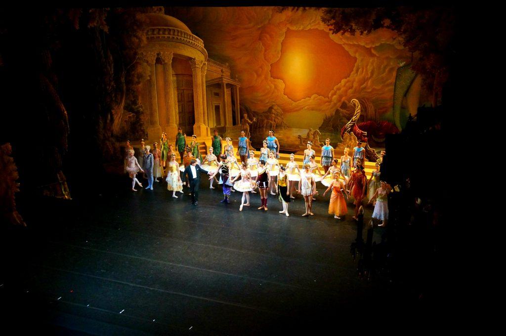 Mariinsky Ballet theatre stage with ballet dancers