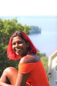 Indian student in Finland red hair