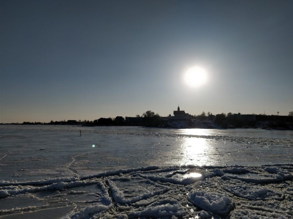 Winter season, sunrise