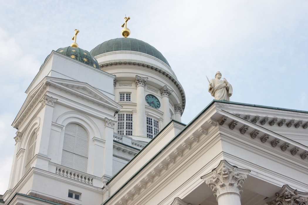 White cathedral in Europe