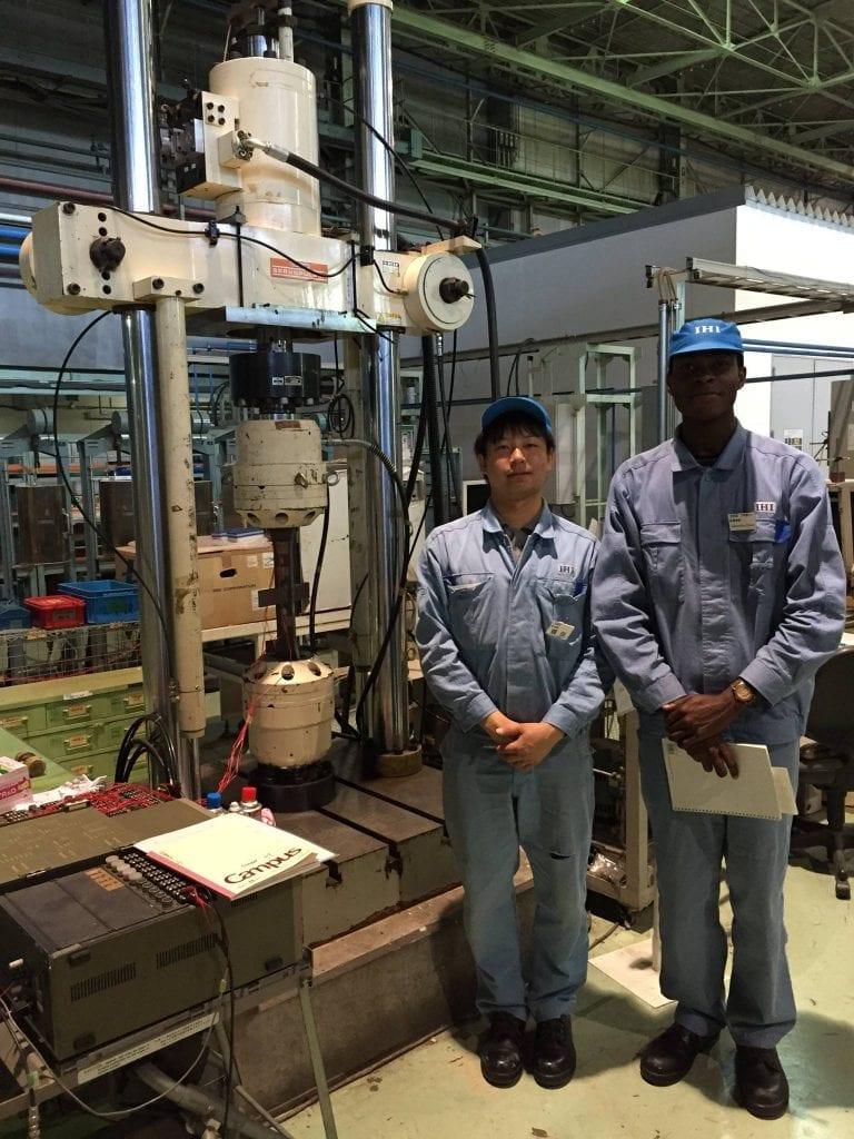 two international students engineering