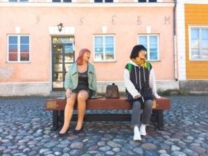 Korean degree student visiting a small city in Finland, Europe
