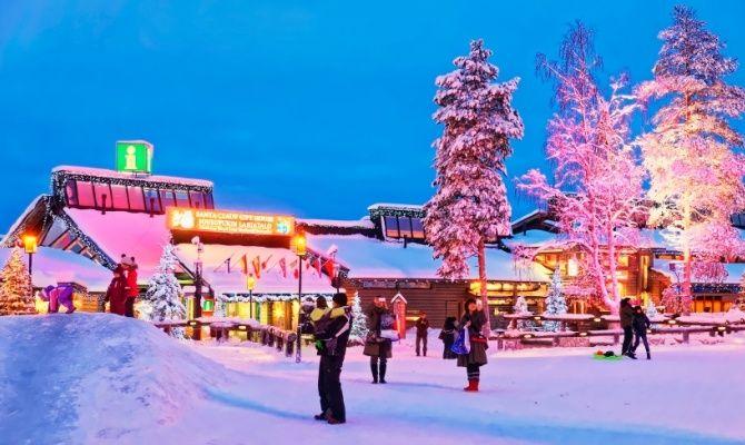 Winter ski resort in Finland