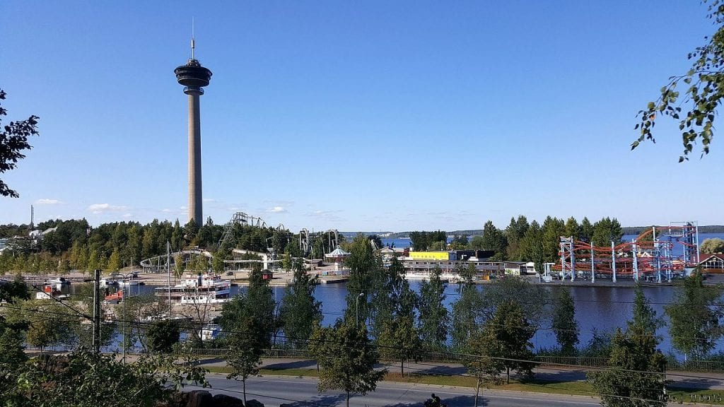 Tampere beautiful view, harbor city