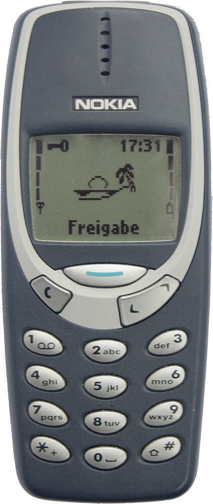 Golden age of Nokia 3310 cellphone model