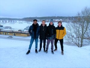Foreign students abroad winter season