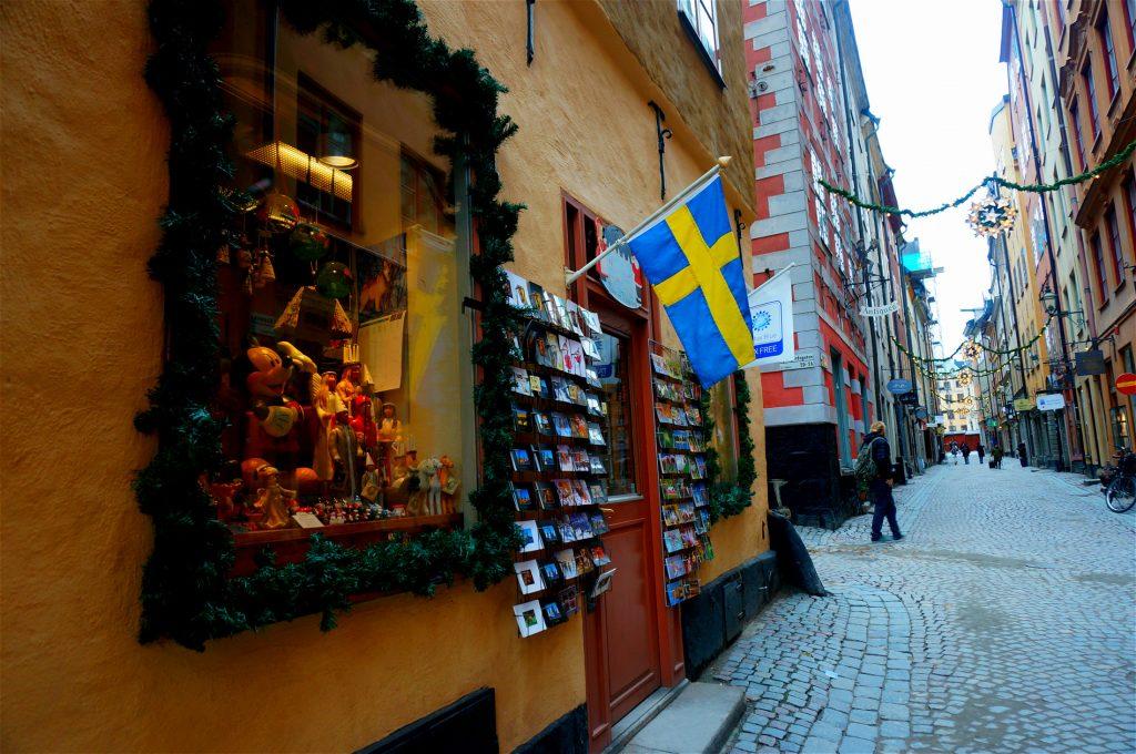 Street in Gamla Stan Sweden