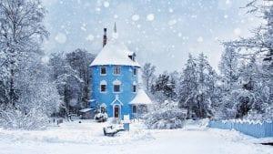 moomin house in winter