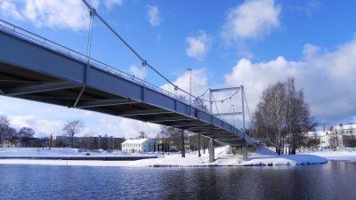 Valkeakoski-bridge in Finland, winter season