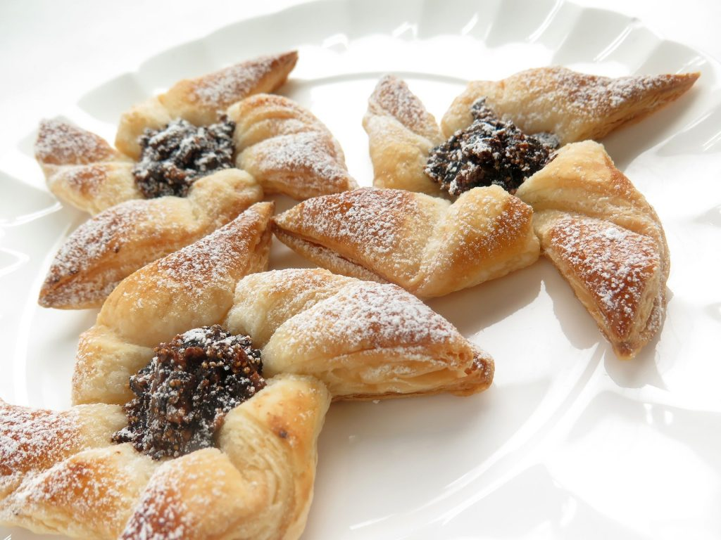 Finnish Christmas foods star-shaped pastry