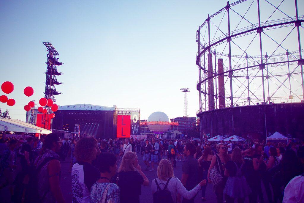 Flow festival in Helsinki Finland Europe