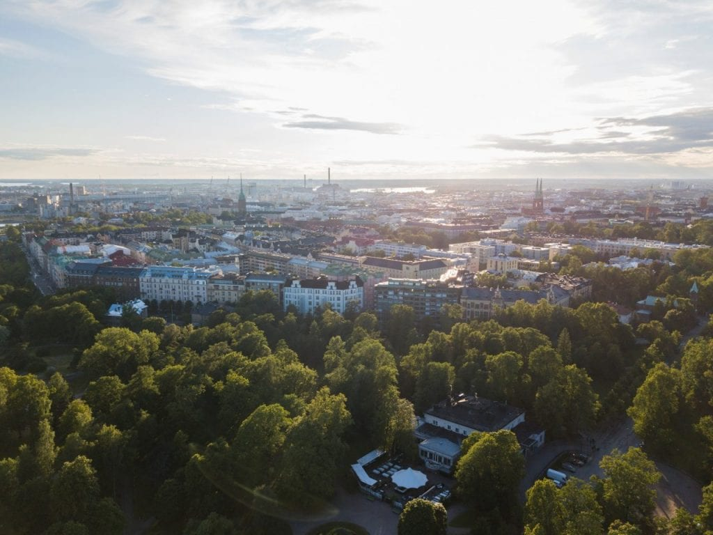 finnish scenery from HOAS apartment in Helsinki