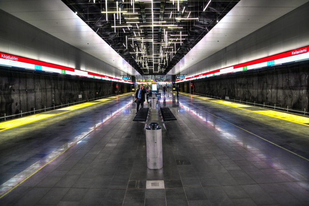 metro station in helsinki