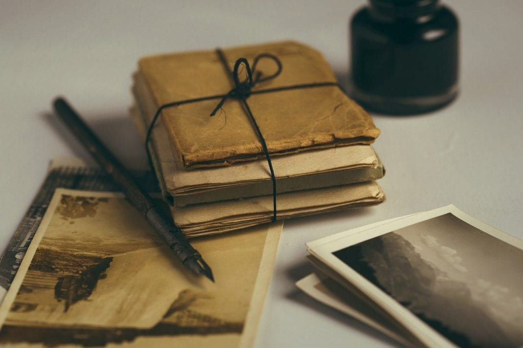 Old letters and books
