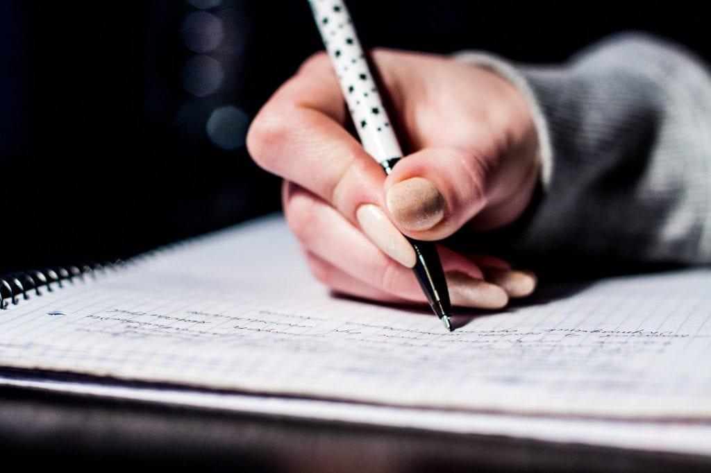 Pen writing note