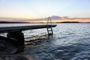 pier finland summer lake