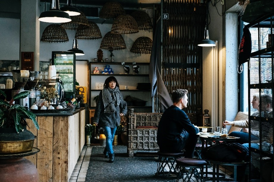 Coffee shop abroad