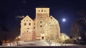 Turku Castle in Finland during Nighttime