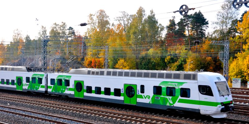 VR trains drive so fast, from the short distance ( in the Helsinki Metropolitan area, to the Helsinki Vantaa airport) and to the other long distance cities