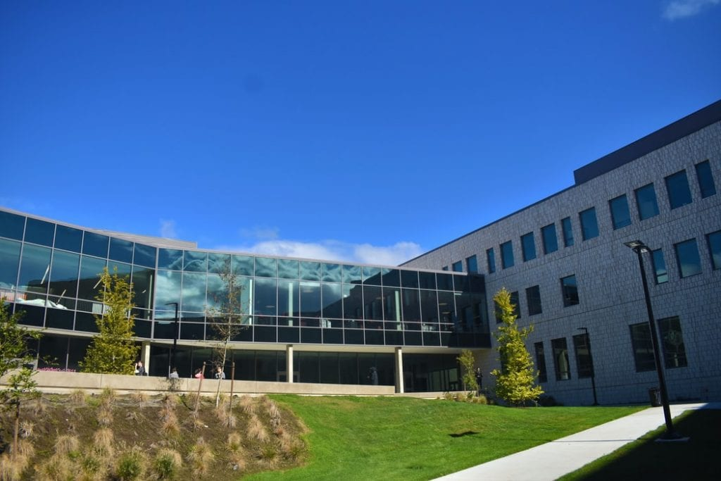 Campus surrounding and blue sky