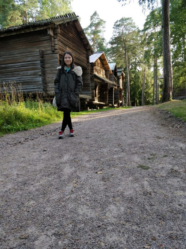 Clara enjoys the nature in Finland