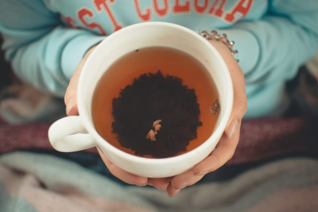 a hot mug of tea