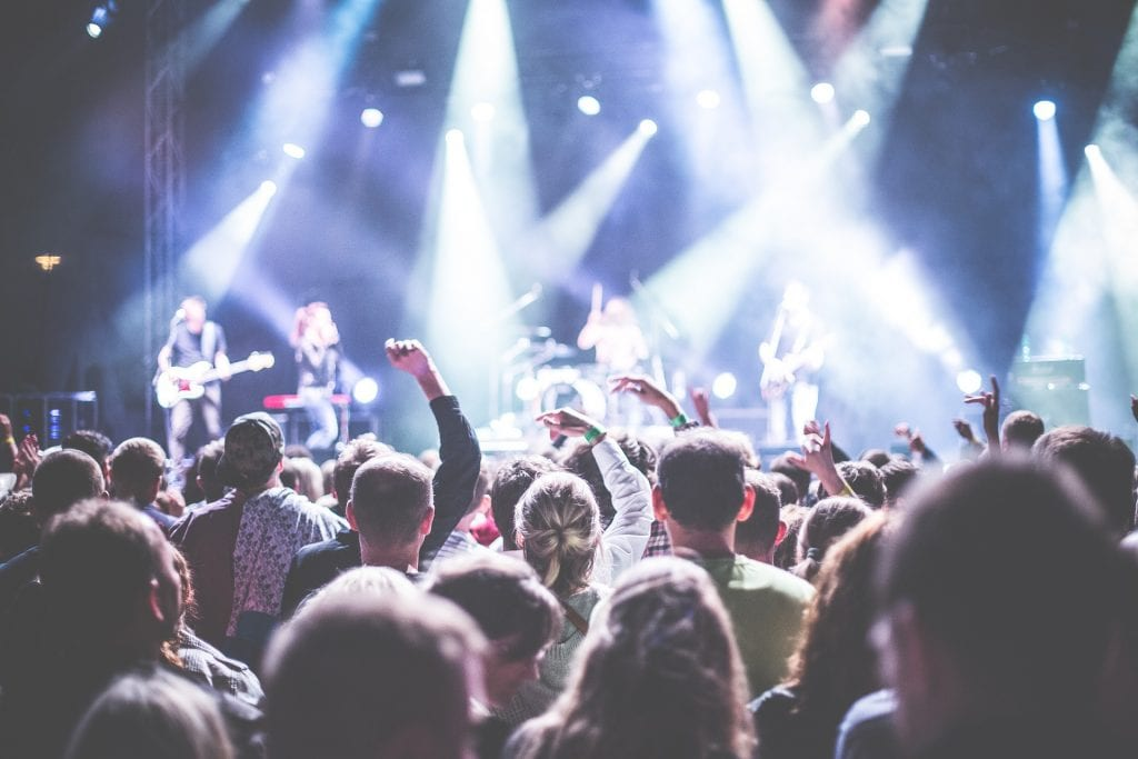 audience at a music festival