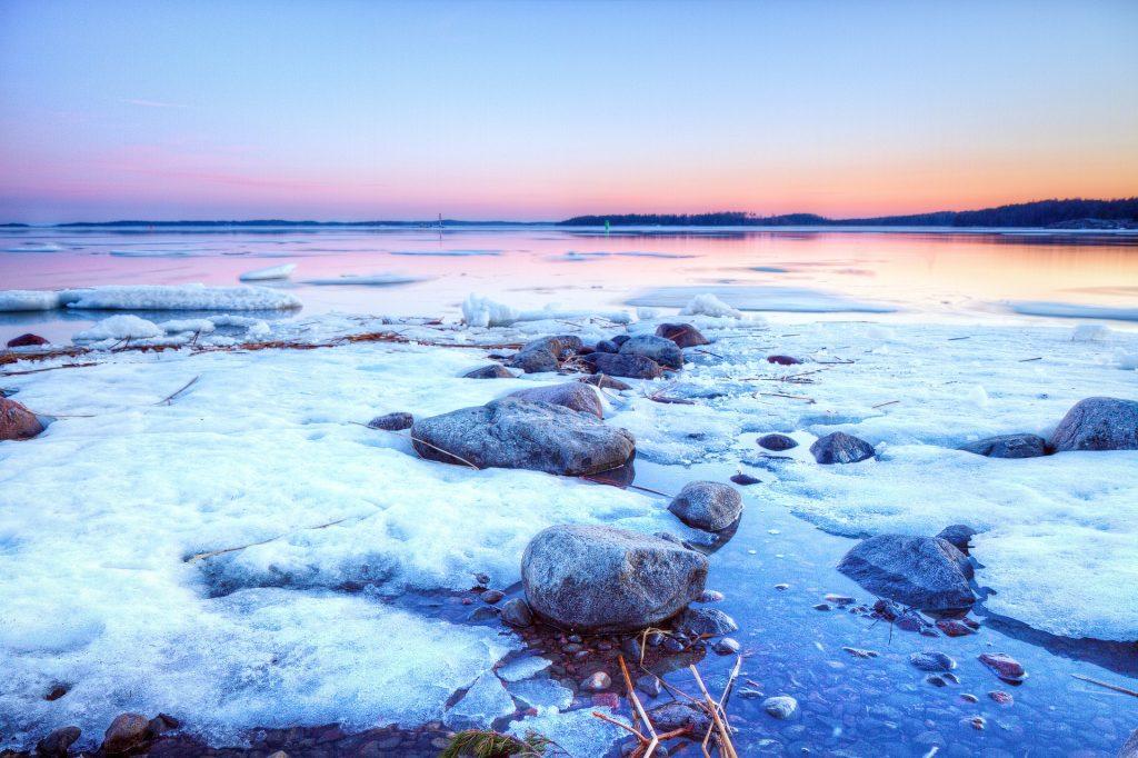 Finland winter lake