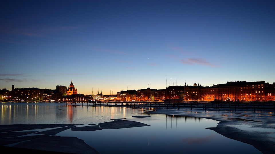 Helsinki next to the sea