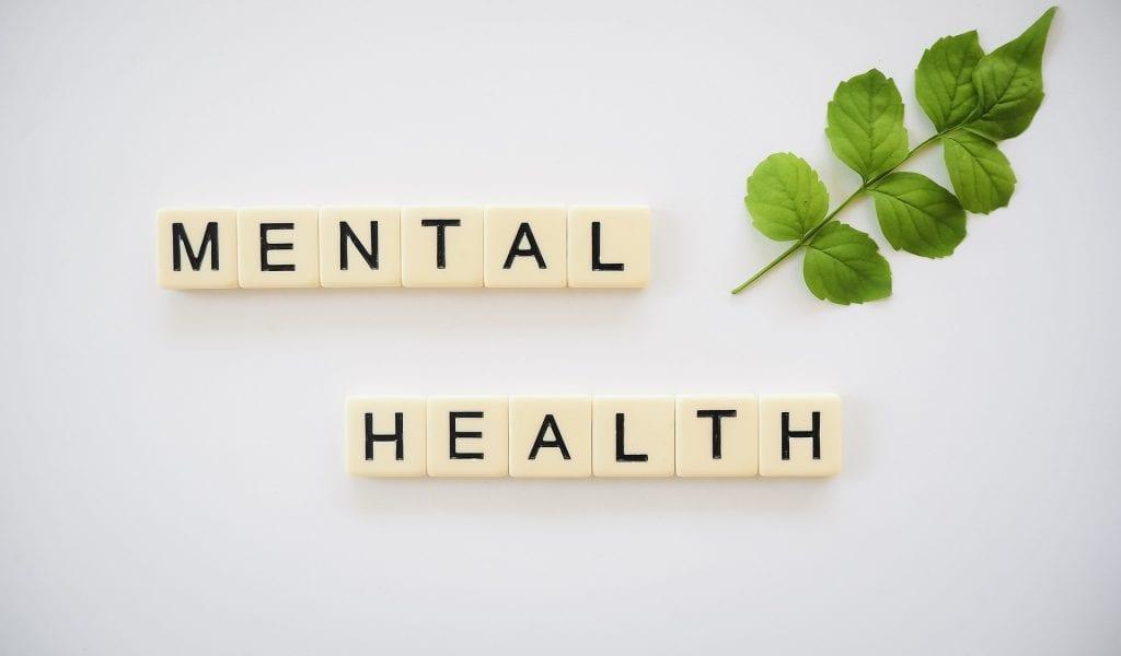 letter blocks spelling out mental health