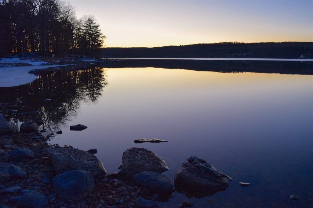 A finnish lake scenery in the evening