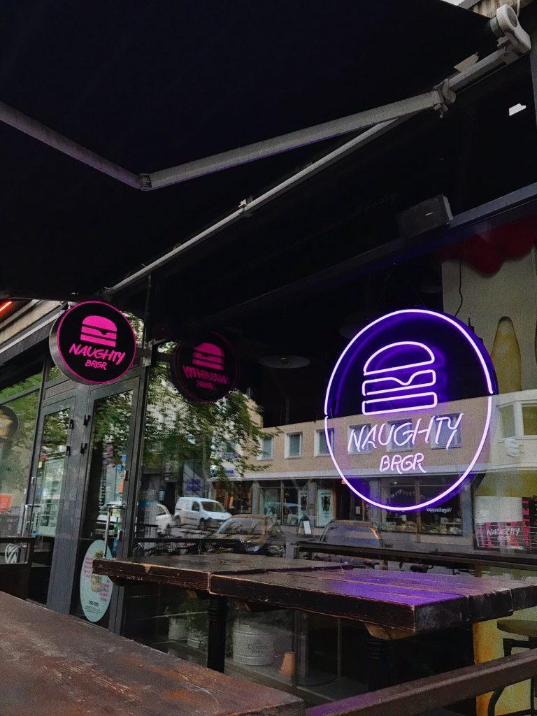 A hamburger restaurant