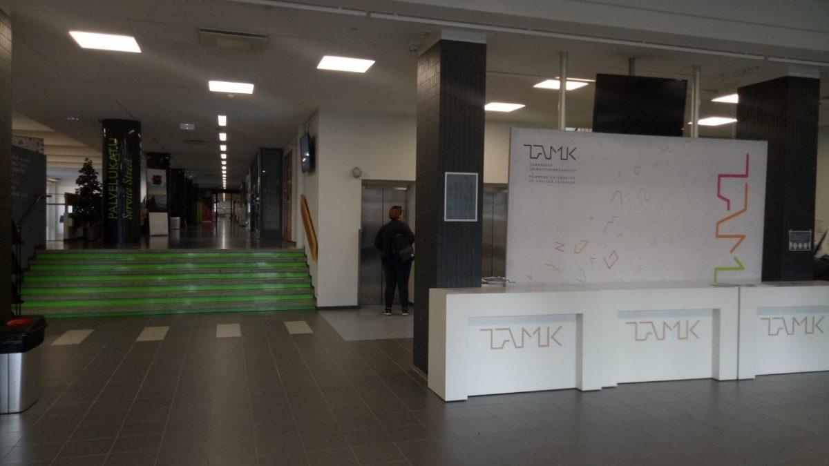 TAMK campus lobby