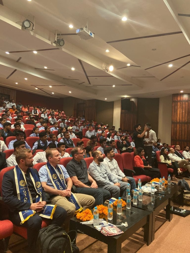 audience at an event in India