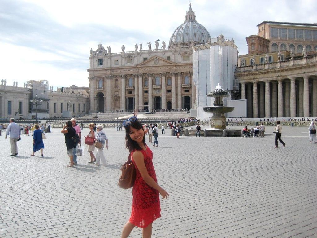 International student on vacation
