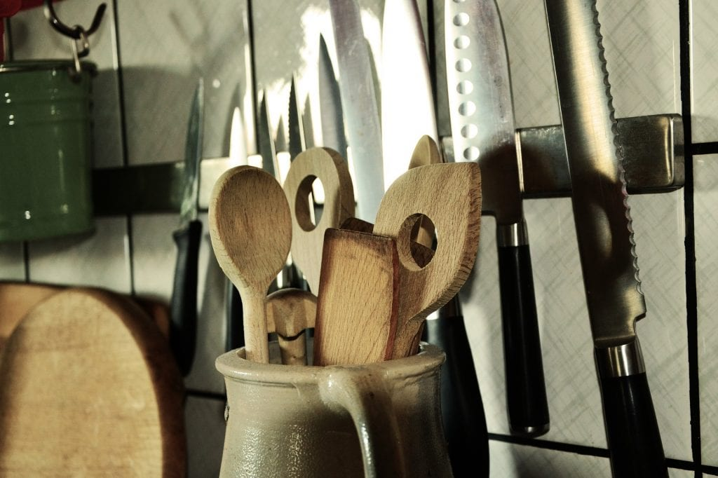 Most apartments are unfurnished, so it's good to buy some necessities like kitchen utensils!