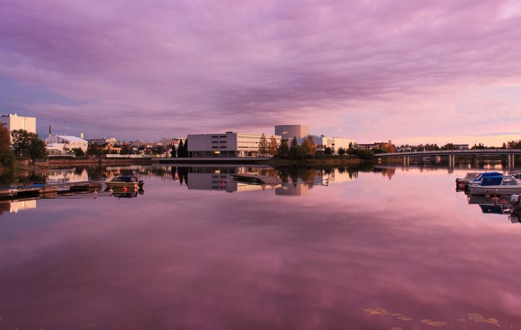 Oulu is a great city in the northern part of Finland!