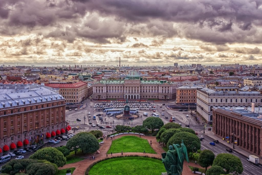 It's very easy to visit St. Petersburg from Finland by train!
