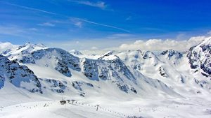 snowy mountains and a ski life