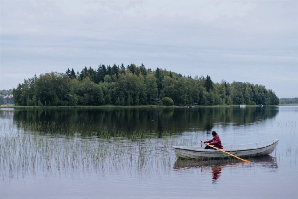 Kayaking in the nature of Finland