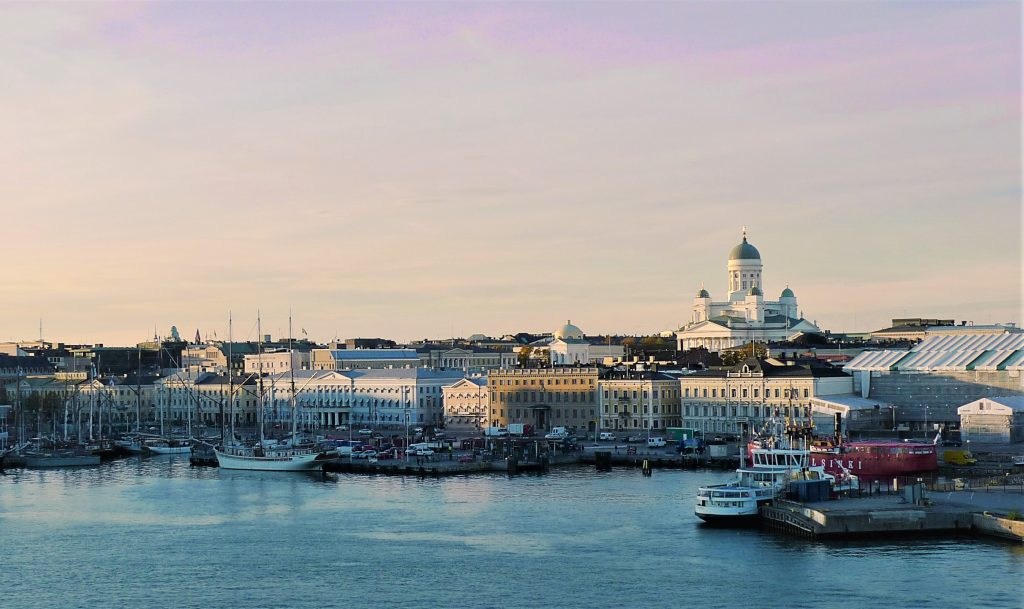 View of the Helsinki skyline