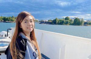 Nursing student bethanee on a cruise ship